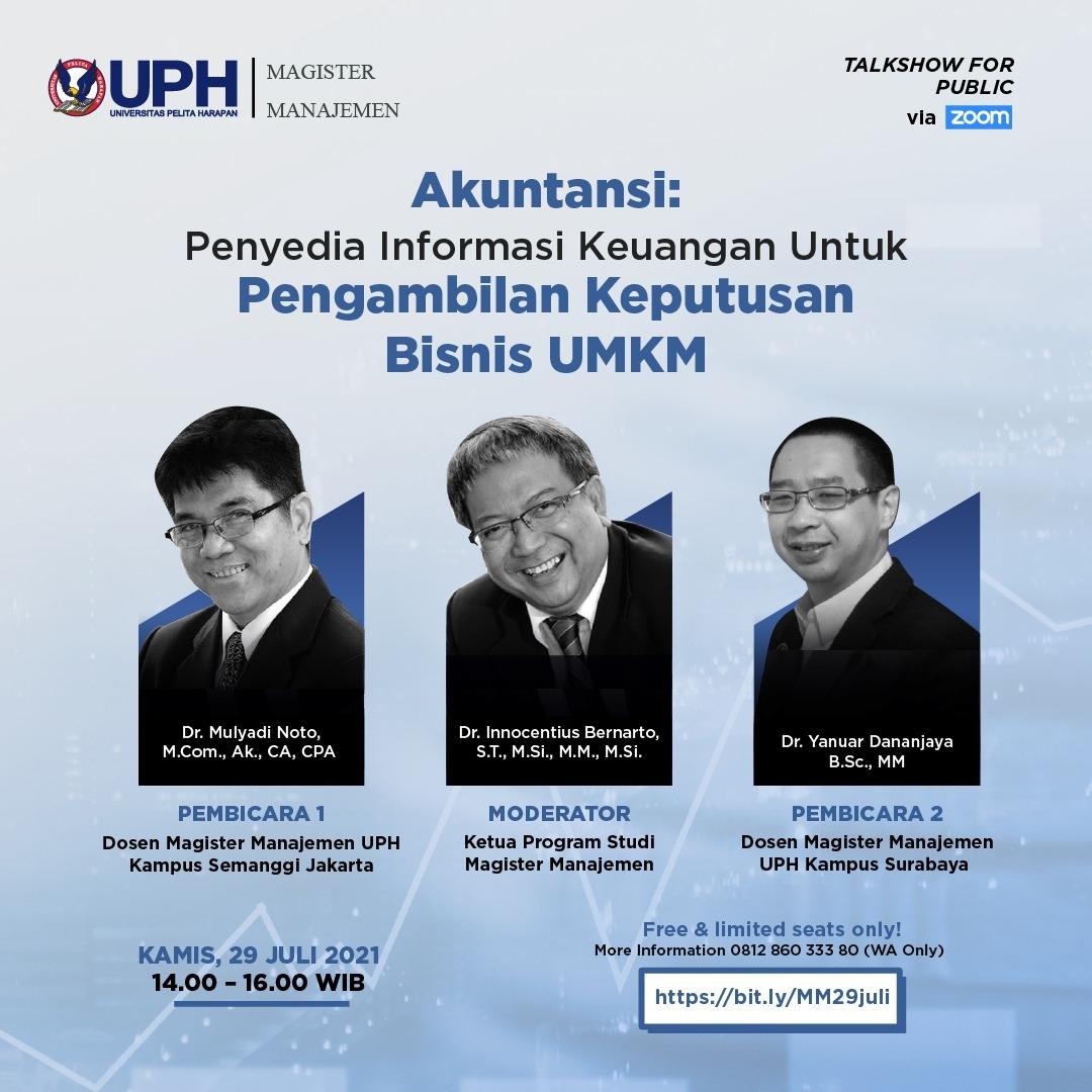 Penyedia Informasi Keuangan untuk Pengambilan Keputusan Bisnis UMKM